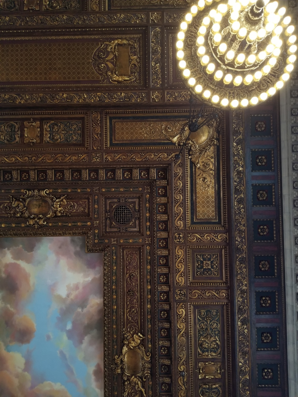 Ceiling of the Rose room atNYPL